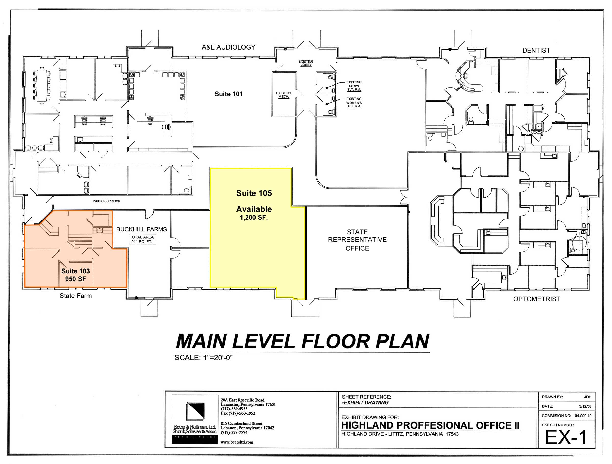 Highlands professional offices us commercial realty for Main level floor plans